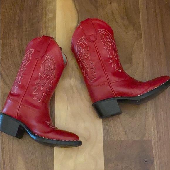 Little Girls Red Leather Nashville